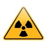 Signe de rayonnement de danger de vecteur Images stock