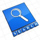 Signe de recherche images stock