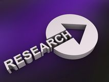 Signe de recherches avec la flèche Image stock