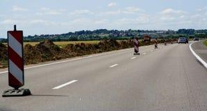 Signe de reconstruction de route Images libres de droits