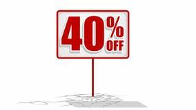 signe de remise de 40 %