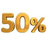 Or 50%, signe de remise de cinquante pour cent Image stock