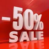 Signe de remise de pour cent, vente jusqu'à 50 Image libre de droits