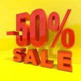 Signe de remise de pour cent, vente jusqu'à 50 Photo stock