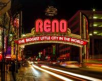 Signe de Reno Images stock