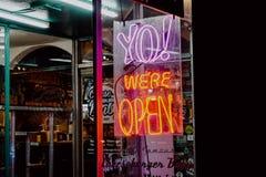 Signe de restaurant de bande de Miami photos stock