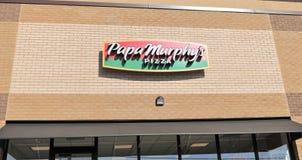 Signe de restaurant de la pizza de Papa Murphy Photo libre de droits