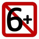signe de restriction de 6 âges illustration de vecteur