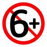 signe de restriction de 6 âges illustration stock