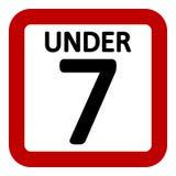 signe de restriction de 7 âges illustration de vecteur