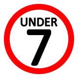 signe de restriction de 7 âges illustration libre de droits