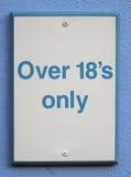 Signe de restriction d'âge Image stock