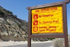 Signe de restrictions du feu Photos libres de droits