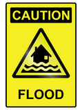 Signe de risque d'inondation Photo libre de droits