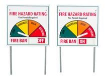 Signe de risque d'interdiction du feu photo libre de droits