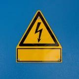 Signe de risque de décharge électrique Photographie stock