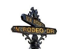 Signe de Rodeo Drive en Beverly Hills, Los Angeles photos stock
