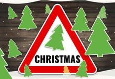 Signe de rouge d'hiver de Noël illustration de vecteur
