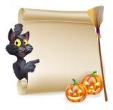 Signe de rouleau de Halloween illustration libre de droits
