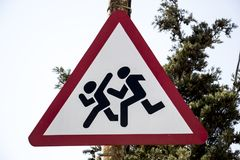 Signe de route Photographie stock