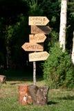 Signe de route Photographie stock libre de droits