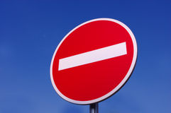 Signe de route image stock
