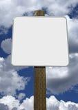 Signe de route blanc Images libres de droits