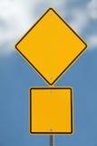 Signe de route blanc image stock