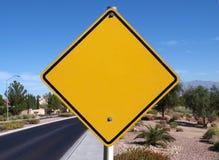 Signe de route blanc de désert Image libre de droits