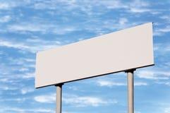 Signe de route blanc sans trame Photo libre de droits
