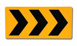 Signe de route d'attention images stock