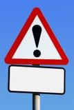 Signe de route d'exclamation Image libre de droits
