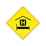Signe de route d'hôtel Photos stock