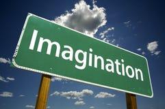 Signe de route d'imagination Images libres de droits