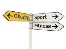 Signe de route d'obésité illustration libre de droits