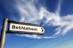 Signe de route de Bethlehem Image libre de droits
