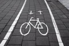 Signe de route de bicyclette Photographie stock