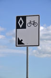 Signe de route de bicyclette Photo libre de droits