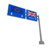 Signe de route de Brexit Images stock