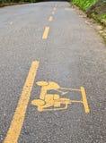 Signe de route de chariot de golf Image stock