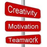 signe de route de créativité illustration stock