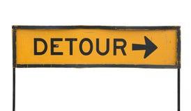 Signe de route de détour photos stock