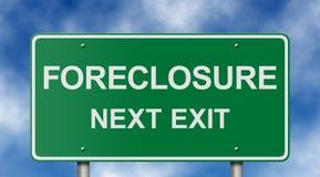 Signe de route de forclusion Image libre de droits