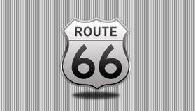 Signe de route de l'artère 66 Photo libre de droits