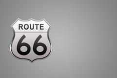 Signe de route de l'artère 66 Photo stock