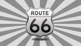 Signe de route de l'artère 66 Images libres de droits