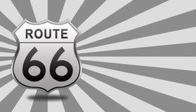Signe de route de l'artère 66 Photographie stock libre de droits