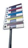 Signe de route de l'information de Blanc Photo stock
