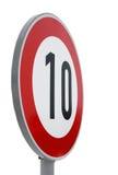 Signe de route de limitation de vitesse Photos libres de droits