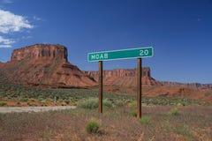Signe de route de Moab image libre de droits